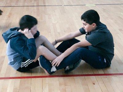 Boys Doing SitUps