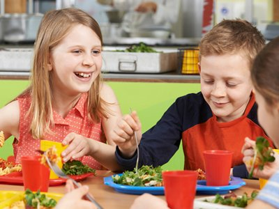 Kids Eating Salads