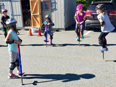 Kids On Pogo Sticks